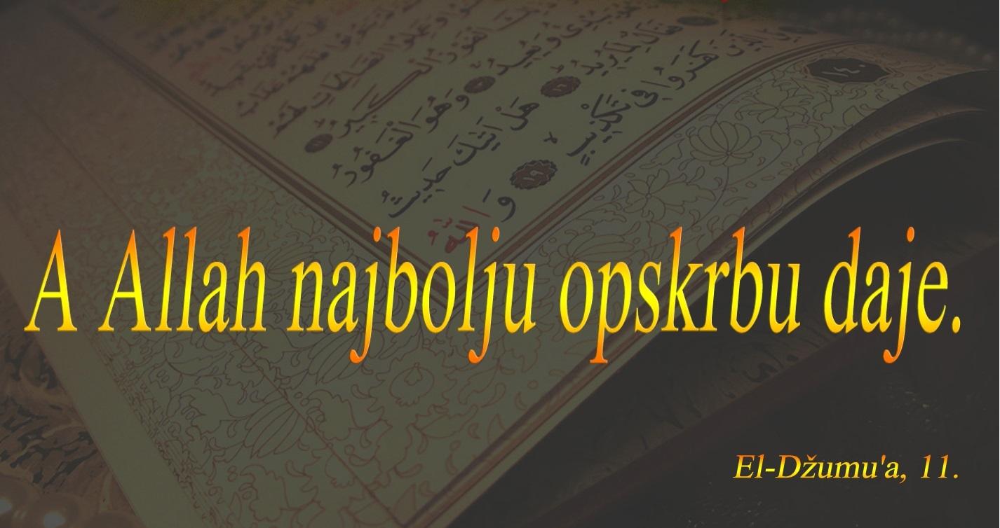 Uzvišeni Allah daje opskrbu vjerniku odakle se i ne nada!