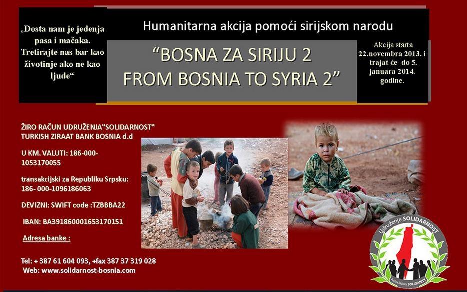 """AKOS u akciji pomoći sirijskom narodu """"Bosna za Siriju 2"""""""