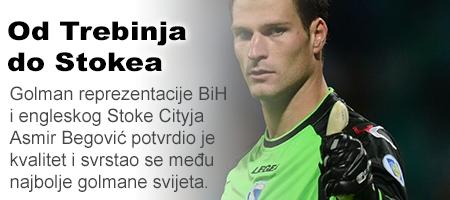 Rukavice prije nego lopta: Put Asmira Begovića od Trebinja do Stokea