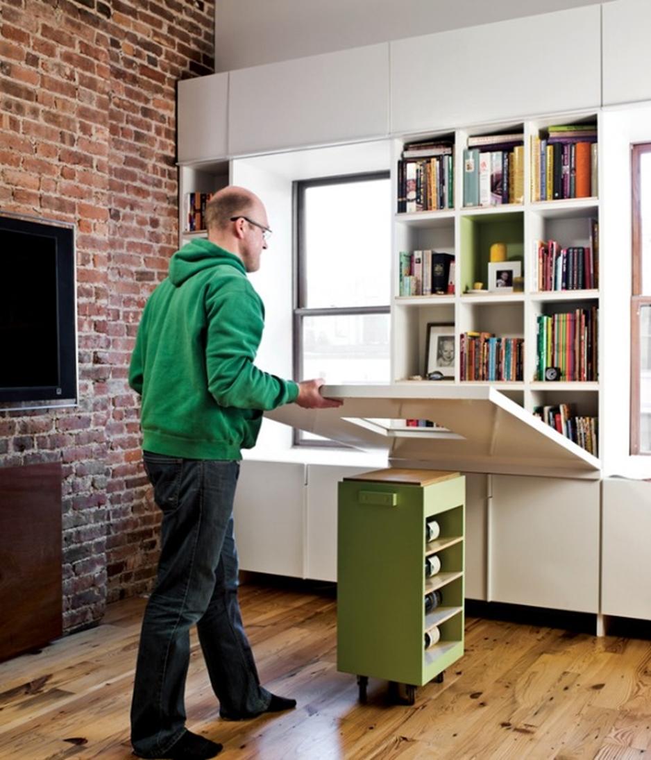 Skriveni i sklopivi radni stolovi: Kreativno iskorištavanje prostora
