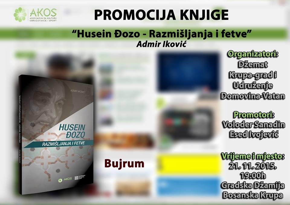 """Promocija knjige """"Husein Đozo – razmišljanja i fetve"""" u B. Krupi"""