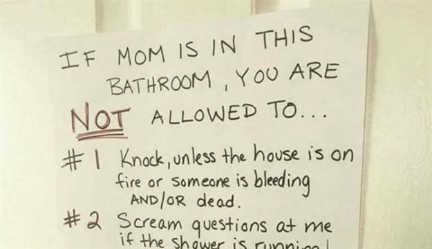 Svaka bi mama trebala imati ovakvu poruku na wc-u za djecu