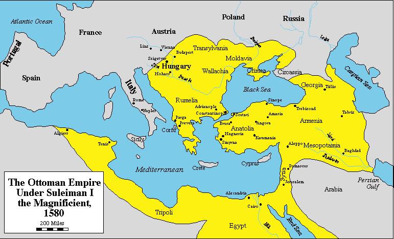 orhan gazi mapa osmanlija