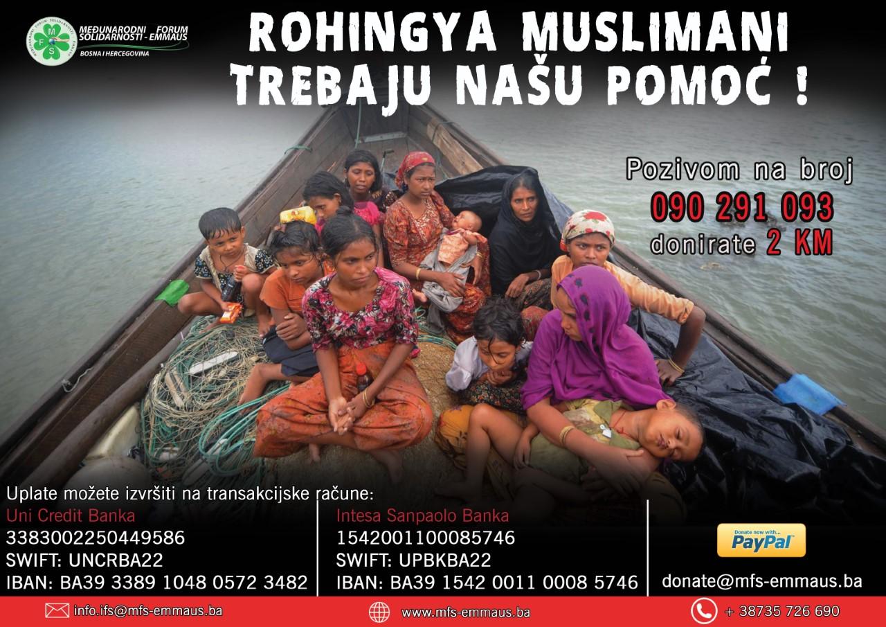 MFS – EMMAUS pokrenuo akciju prikupljanja pomoći za Rohingya muslimane