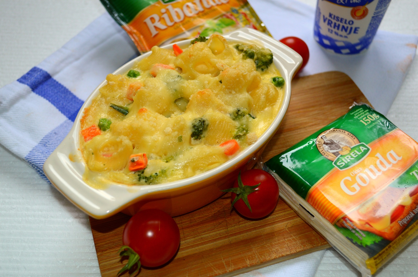 Studentski recepti: Zapečeni makaroni s povrćem