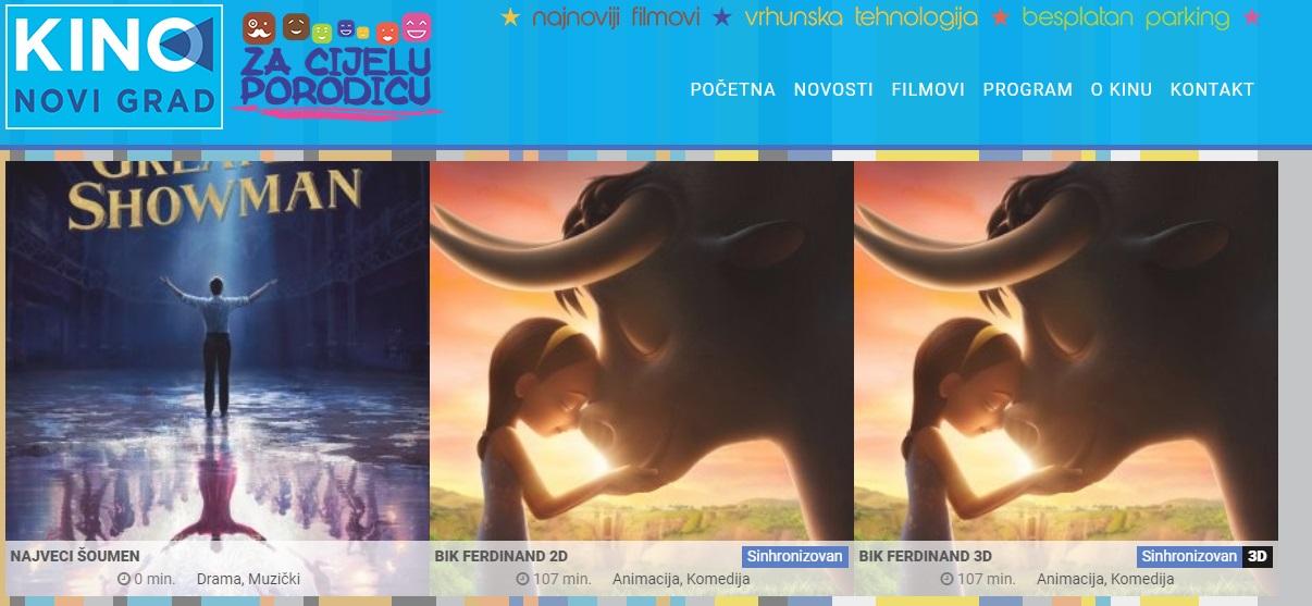 Raspored filmova u Kino Novi Grad u decembru