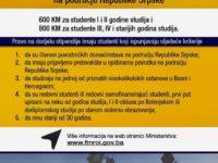 Poziv za stipendije studentima-povratnicima na području Republike Srpske