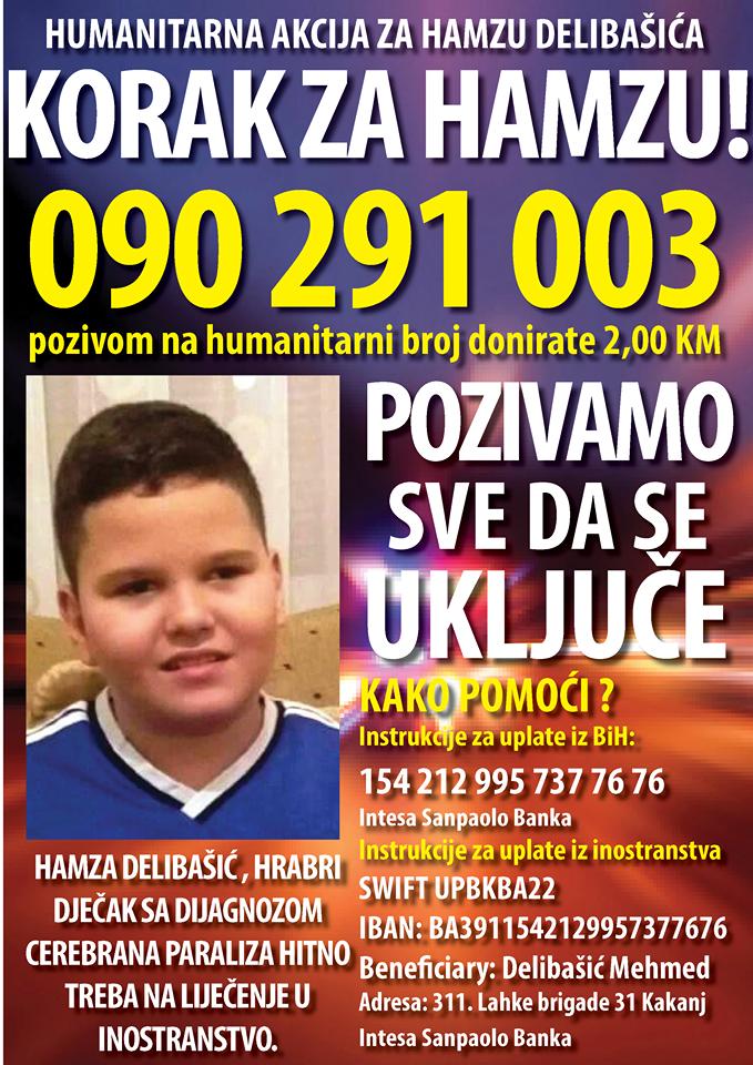 """Humanitarna akcija """"Korak za Hamzu"""" – pomozimo Hamzi da prohoda"""