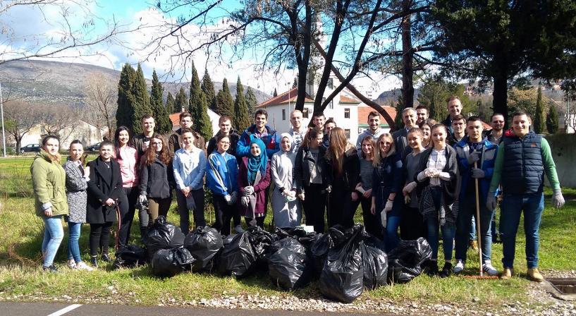 """Akcija čišćenja kampusa Univerziteta """"Džemal Bijedić"""""""