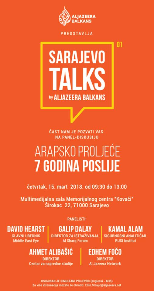 Sarajevo Talks by Al Jazeera Balkans: Konferencija o Arapskom proljeću u Sarajevu