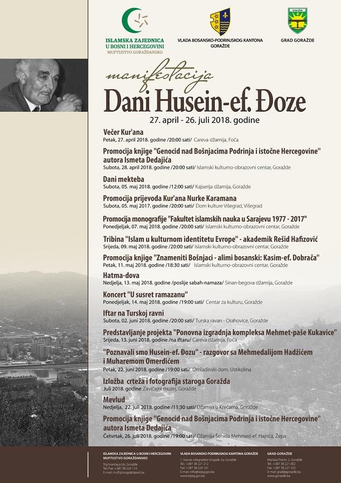 Goražde: Manifestacija 'Dani Husein-ef. Đoze' 2018.