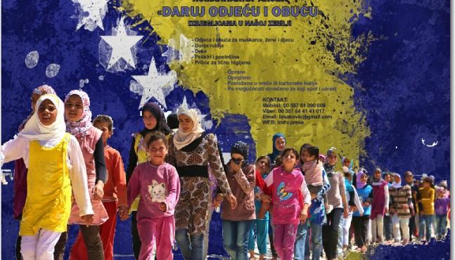 Humanitarna akcija prikupljanja odjeće i obuće za izbjeglice koji trenutno borave u BiH