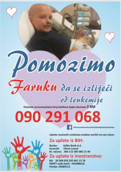 Faruk Lemeš treba našu pomoć da se izliječi od leukemije