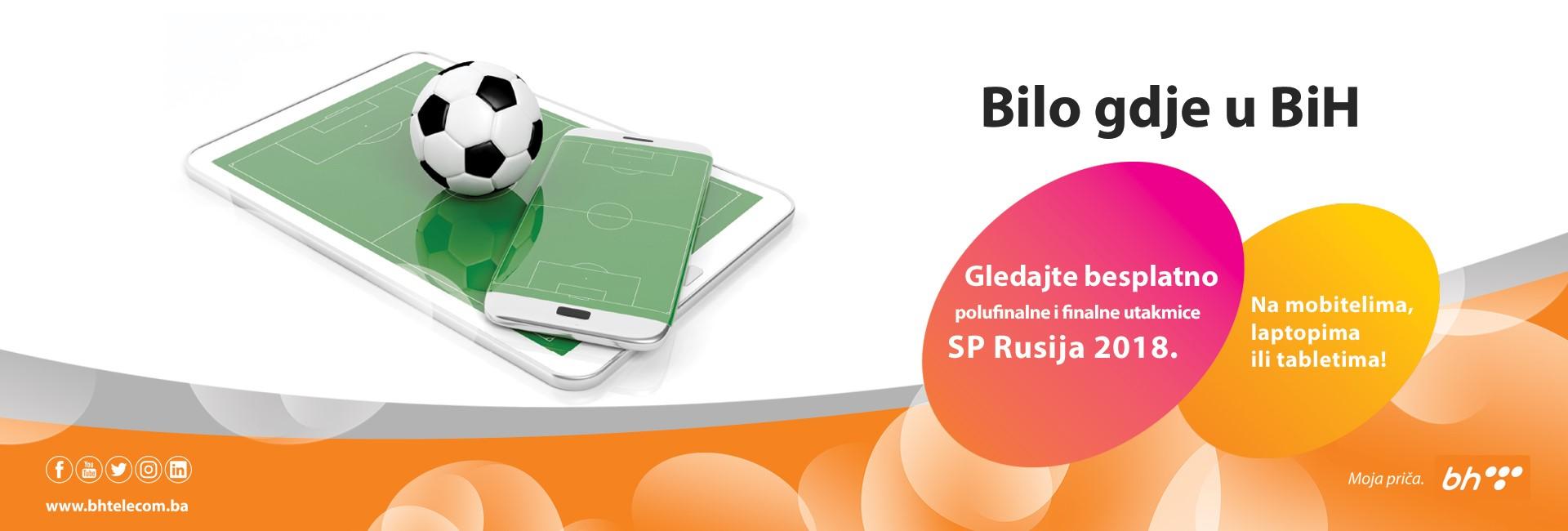 Besplatno gledajte preostale utakmice SP u Rusiji na mobitelima ili tabletima