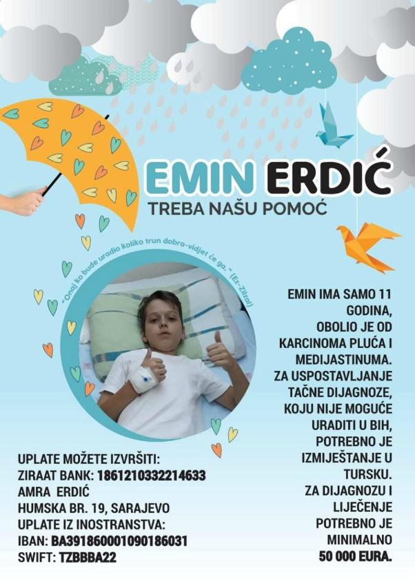 Pomozimo jedanaestogodišnjem Eminu da pobijedi opaku bolest