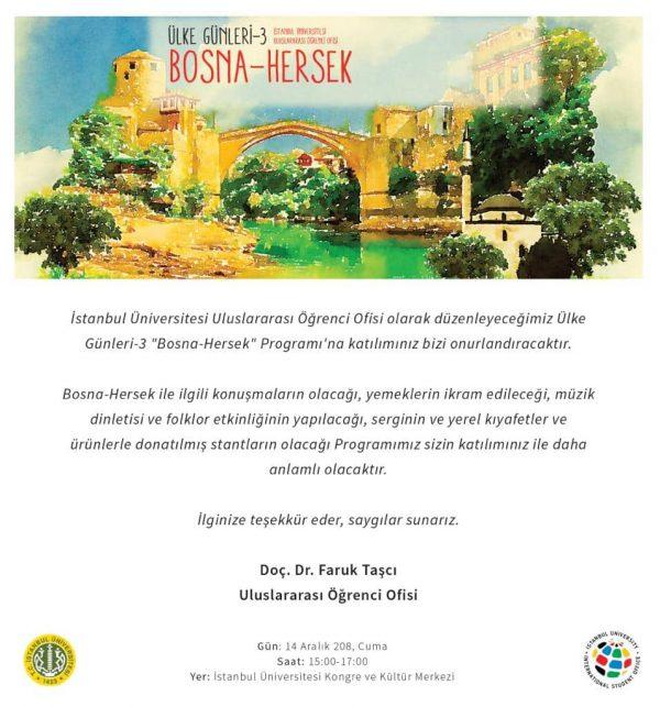 Predstavljanje kulture BiH na Istanbul univerzitetu